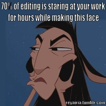Editing face
