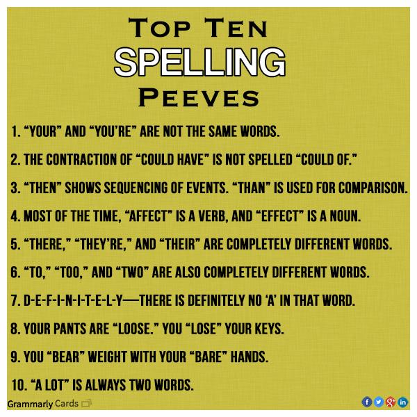 spelling pet peeves