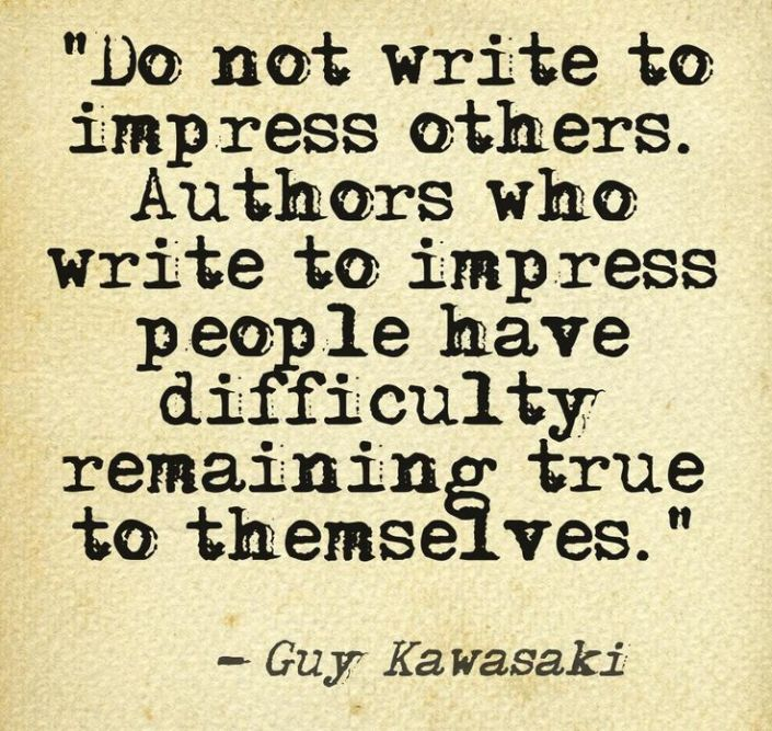 Writing to impress others