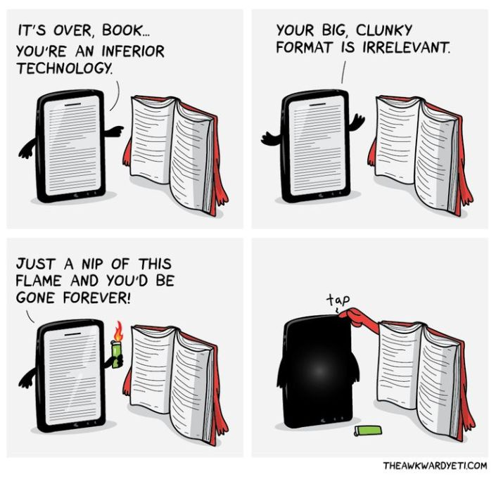 books vs kindle