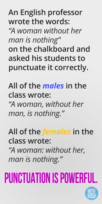 English lesson punctuation