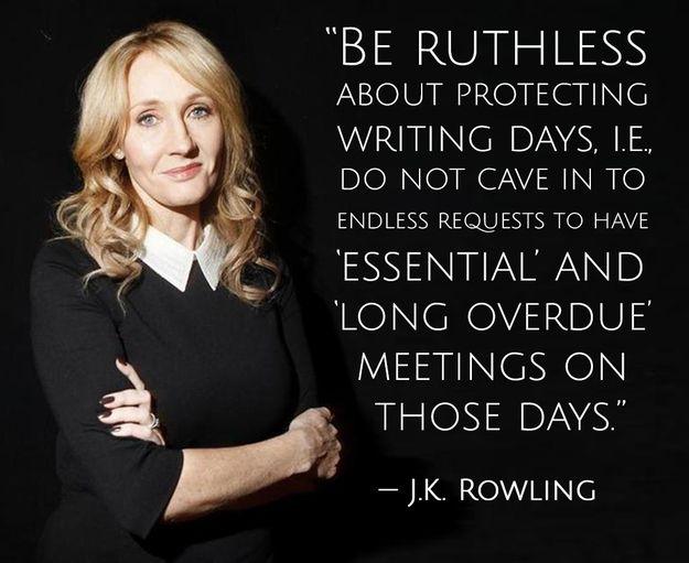 JK Rowling advice