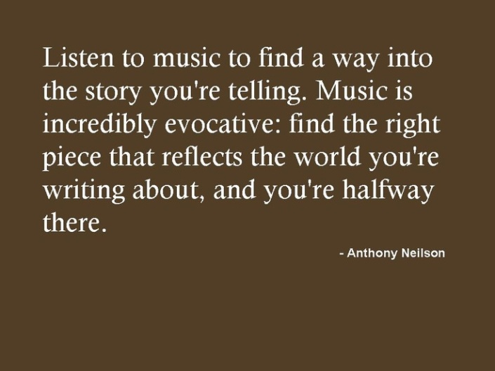 Music can help writing