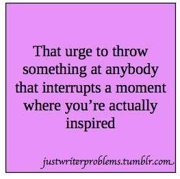 Throw someone for interrupting