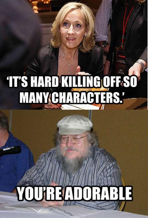 funny-writers-J-K-Rowling-R-R-Martin