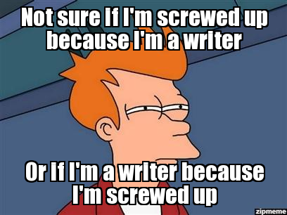 Fry writing gif